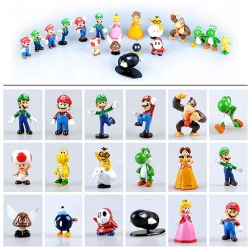 18 Figurines Mario Bros, Mario Amis. ? Mario Kart Luigi Toad Yoshi