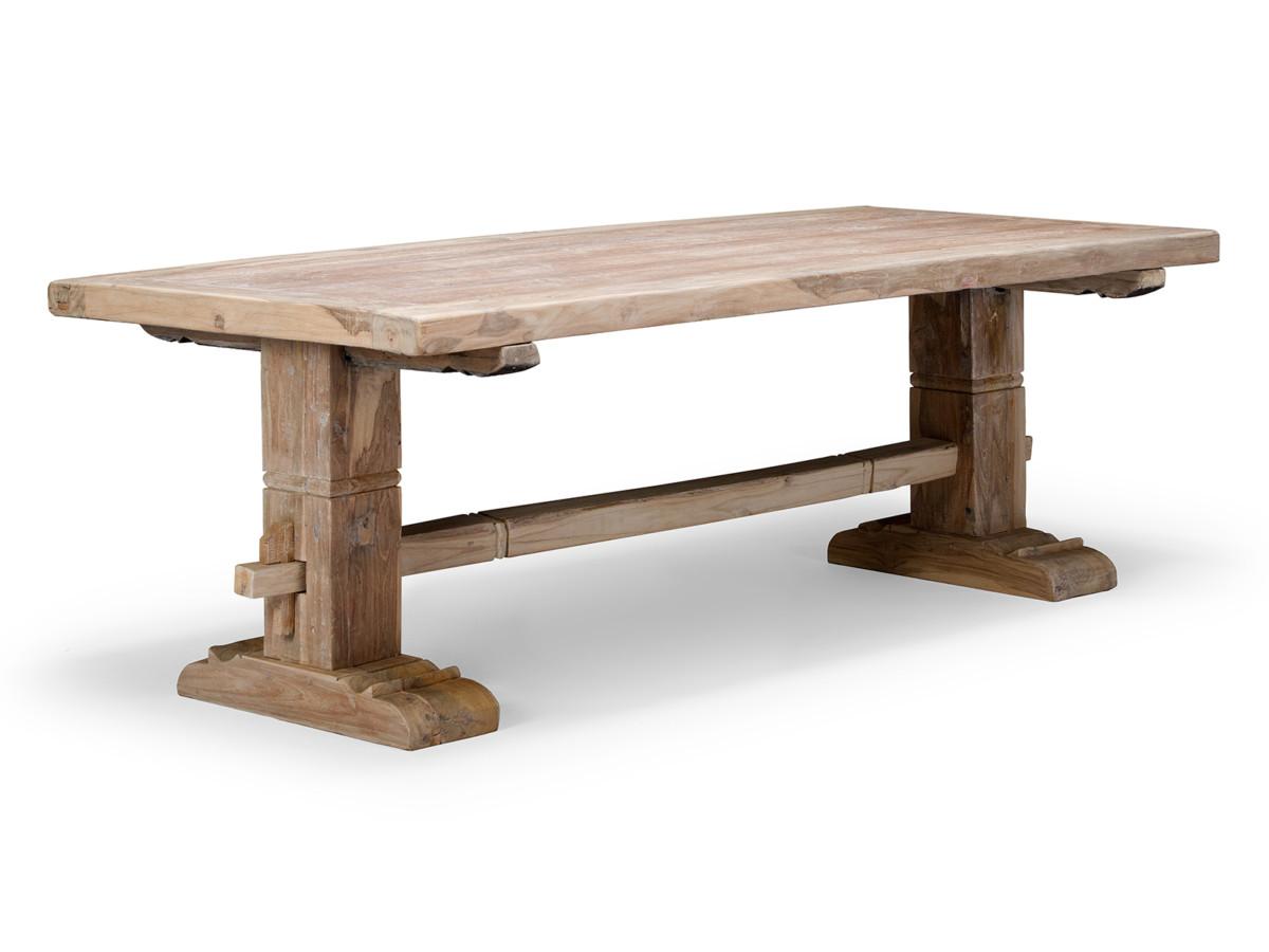 GRANDE TABLE de salle à manger 220×95 BOIS de TECK RECYCLÉ série