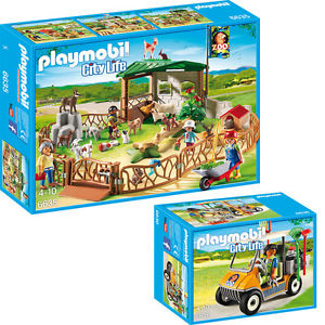 PLAYMOBIL City Life Der grose Zoo 2 tlg Set 6635 6636 Streichelzoo