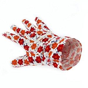 Gants de jardinage pour femme motif fleuri rouge: Bricolage
