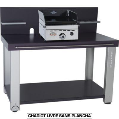 Chariot Forge Adour TABLE ROULANTE FER POUR PLANCHAS 450&600