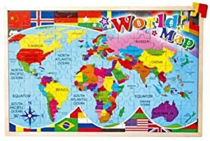 Puzzle «Carte du monde»: Jeux et Jouets