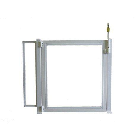 Portillon pour piscine pvc blanc, H.125 x l.150 cm |