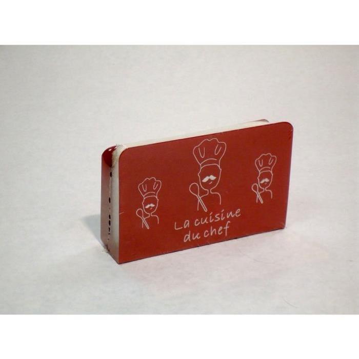 Porte éponge de cuisine en métal rouge Achat / Vente porte