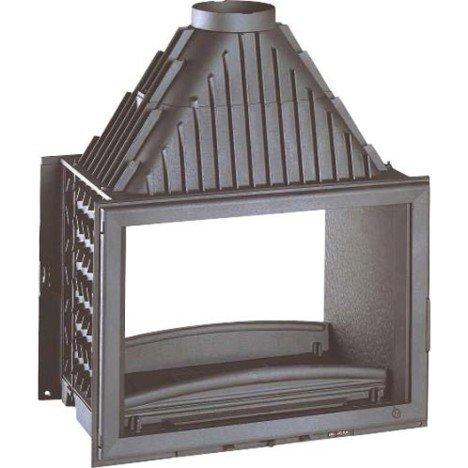 Foyer à bois façade droite INVICTA 6278 44 14 kW |