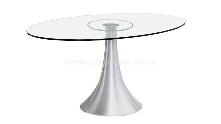 Table salle a manger ovale design topiwall for Table salle a manger ovale en verre