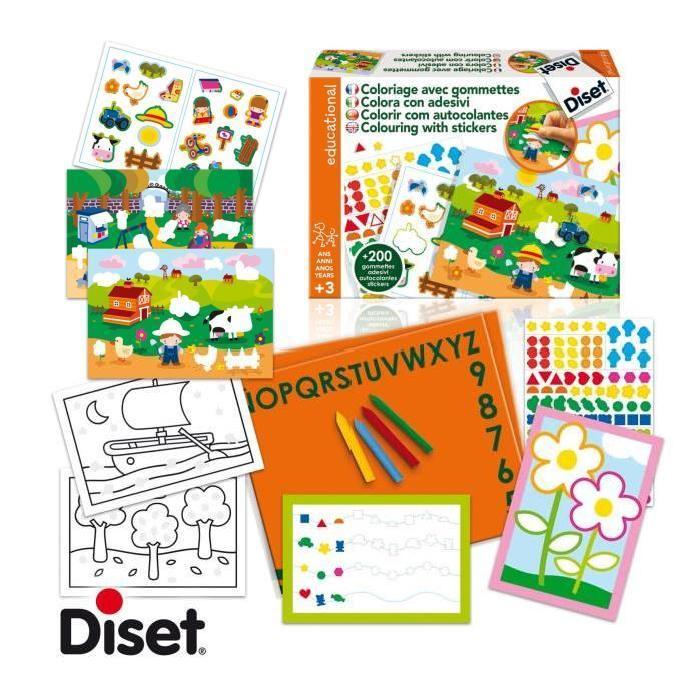 DISET Coloriage avec Gommettes Achat / Vente kit de dessin