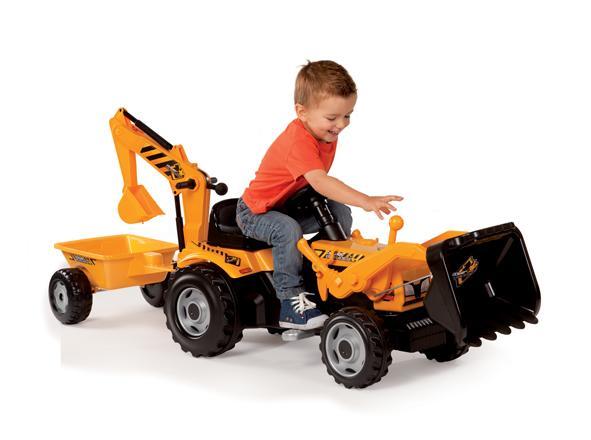 tracteur builder max et remorque smoby ce combiné tracteur double