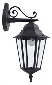 Applique extérieure Lanterne Lampe murale noire 30580