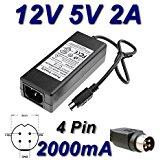 Adaptateur Secteur Alimentation Chargeur 12V 5V 2A 4 Pin pour STOREX