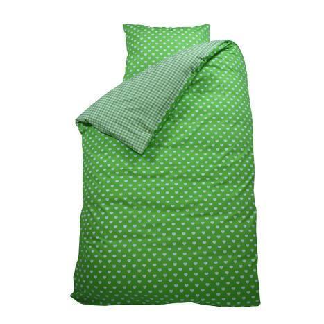 Housse de couette Coeur vert Achat / Vente housse de couette