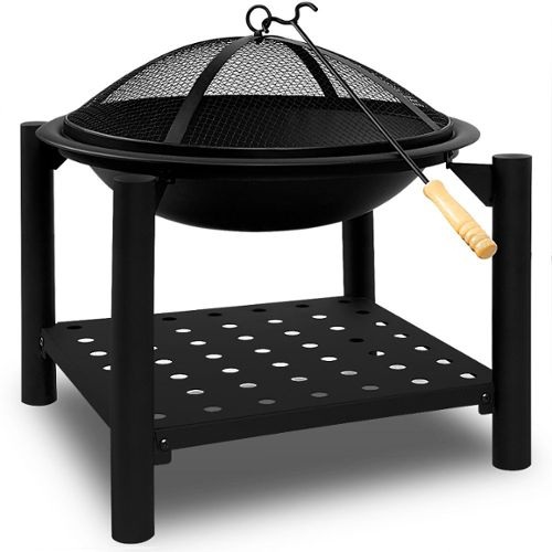 55cm Avec Grille Et Tisonnier Barbecue Chauffage Extérieur Deuba