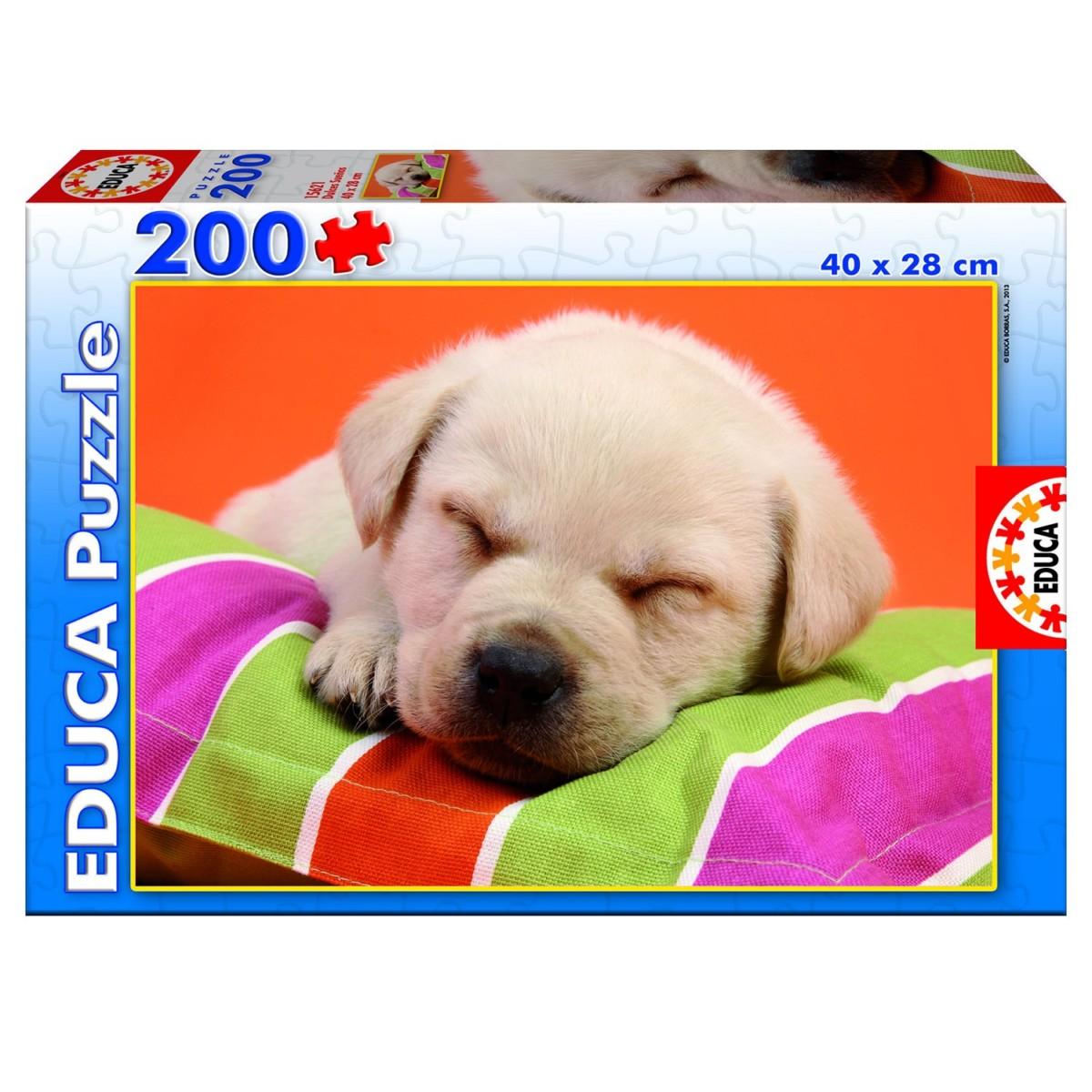 puzzle 200 pièces doux chiot 128889 référence educa 15621 puzzle de