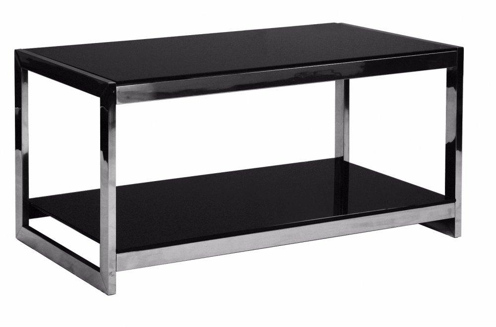 Table basse design SUMMER en verre noir