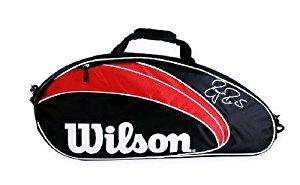 Wilson Federer Sac de tennis 3 raquettes Noir Rouge/Noir 77 x 12 x 33
