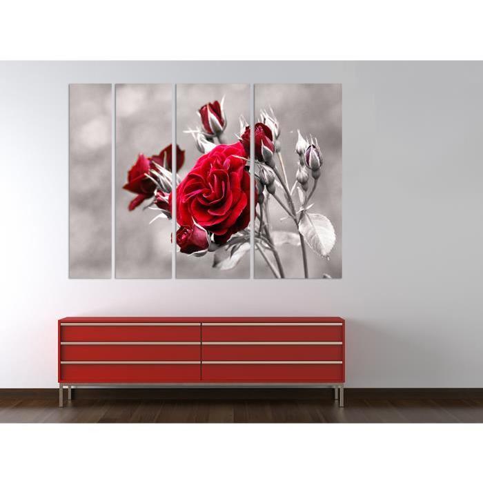 Bilderdepot24 tableau toile sur châssis en bois rose rouge 180×120