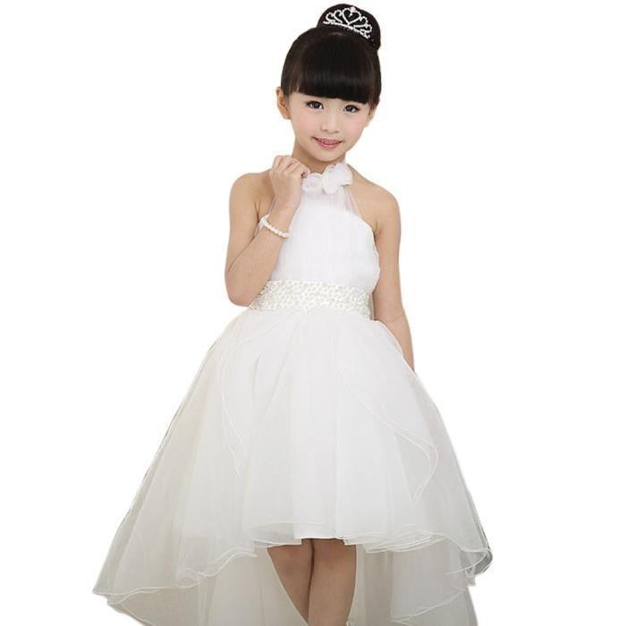 EOZY Robe de Soirée Mariage Enfant Fille Tutu de Princesse