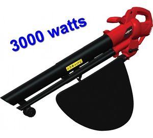 Souffleur À Feuilles Aspirateur Broyeur 3000 Watts SAC DE 40 Litres