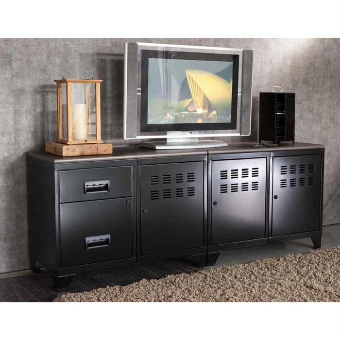 Meuble tv modulable en metal Achat / Vente meuble tv Meuble tv