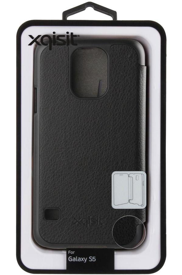 Housse et étui pour téléphone mobile Xqisit Etui Folio noir pour