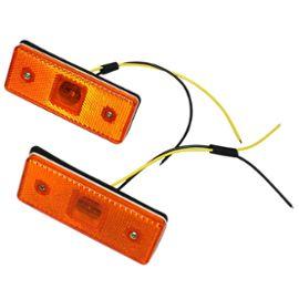 : Jeu De 2 Feux De Gabarit Position Lumière Orange 24v À 4 Led