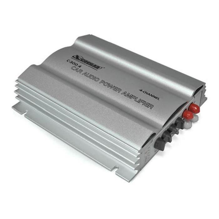Cougar C300.4 Ampli de voiture 4 canaux 600W 600W de puissance max