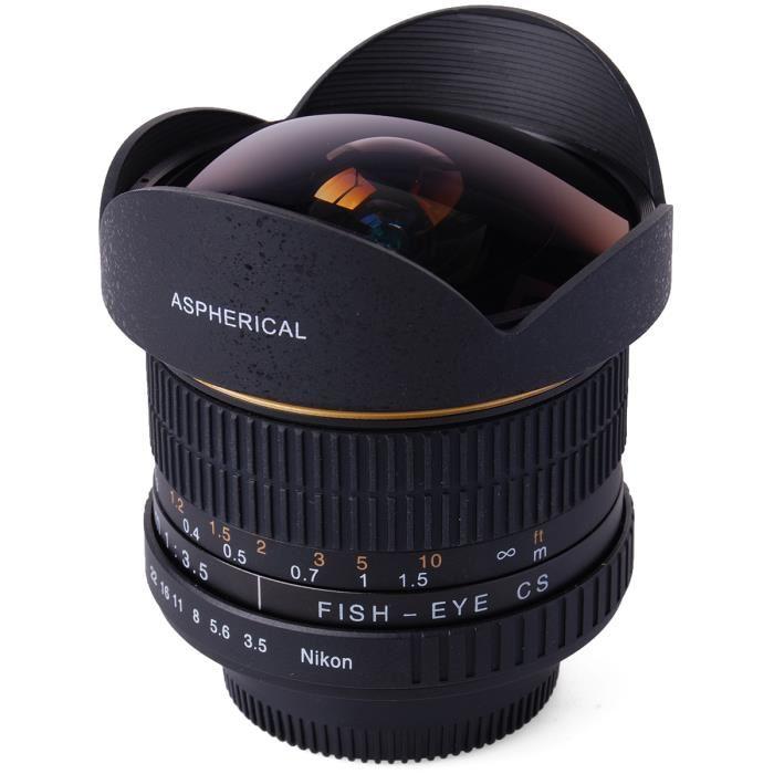 5mm F3.5 HD Fisheye Objectif Pour Nikon D7100 Achat / Vente objectif