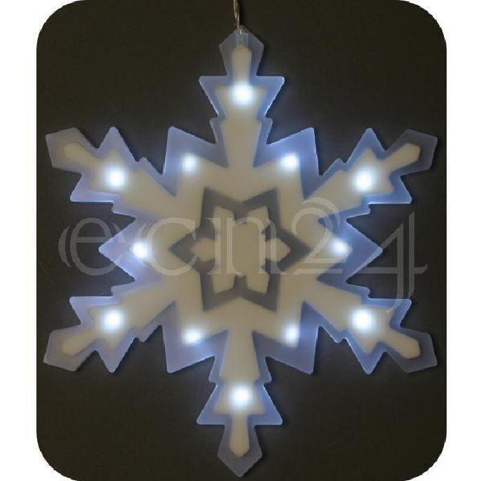 Flocon neige LED, déco fenêtre, alimenté par piles Achat / Vente