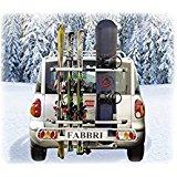 Porte ski sur attelage FABBRI EXCLUSIV SKI & BOARD DELUXE PORTE SKIS