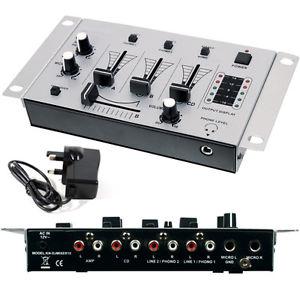 Channel DJ Mixer Crossfade Talkover Microphones Mics Pre Amplifier