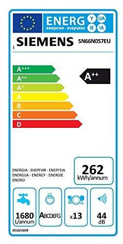 Siemens SN66N057EU Lave vaisselle 44 dB A++ Marron: Gros