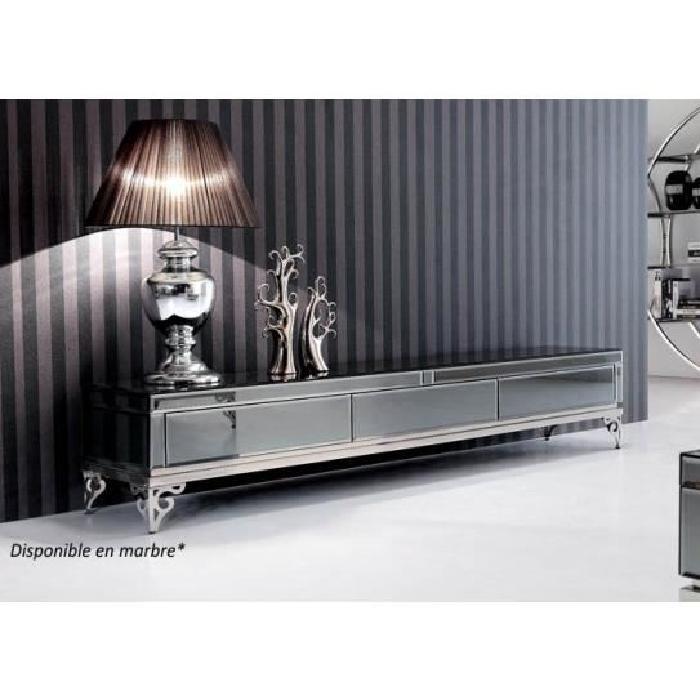 meuble tv effet miroir 3 tiroirs Achat / Vente meuble tv meuble tv