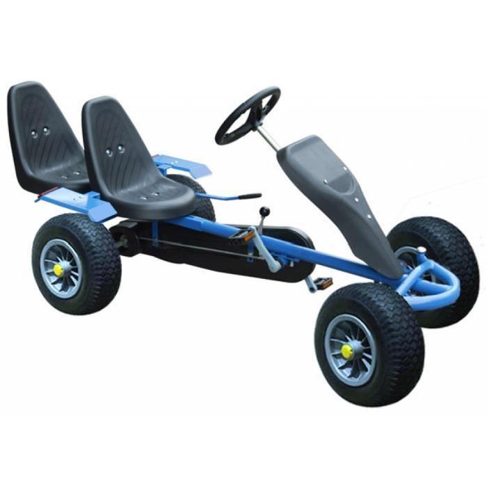 kart a pedales bleu 2 places 5 ans