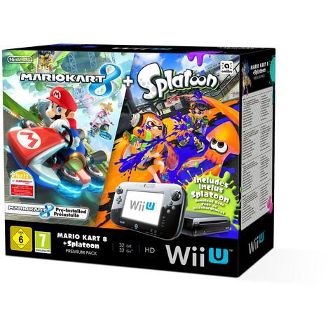 Console Wii U + 2 jeux Splatoon + Mario kart 8 Edition limitée + jeux