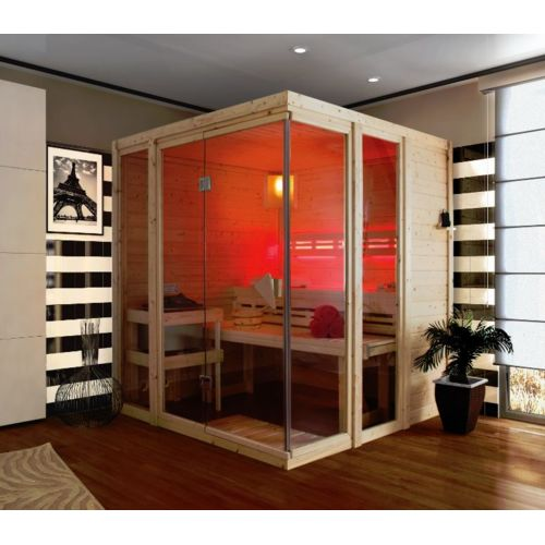 Karibu Sauna Traditionnel 40 mm Paavo 196 cm x 184 cm x