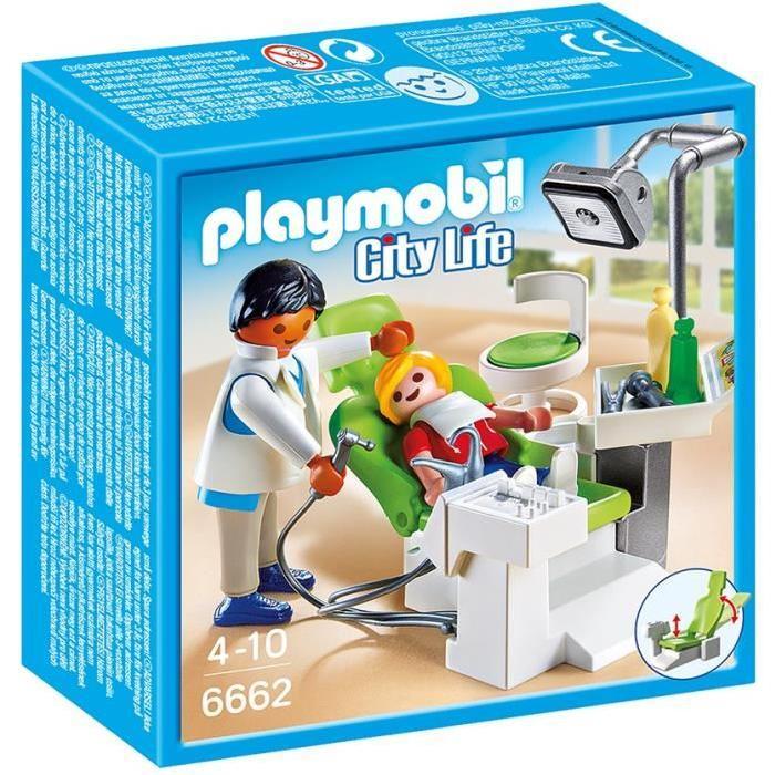 PLAYMOBIL 6662 Cabinet de dentiste Achat / Vente univers miniature