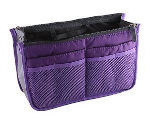 Pochette de rangement interieur pour grand sac a main Violet