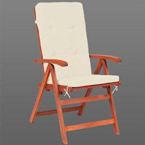 coussins de chaise Beige crème 100%Polyester pour chaise à