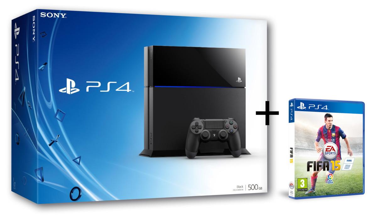 PACK CONSOLE PS4 Noir + FIFA 15