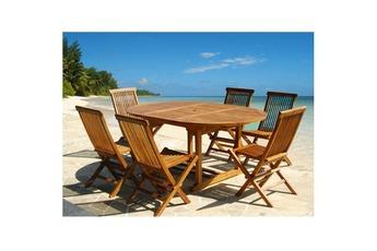 et chaise de jardin Salon de jardin teck en bois de teck huilé 6