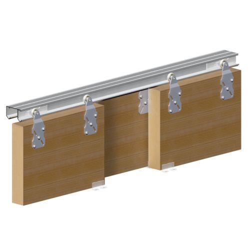 porte coulissante Horus pour 3 portes de placard rail 2 m 45 kg