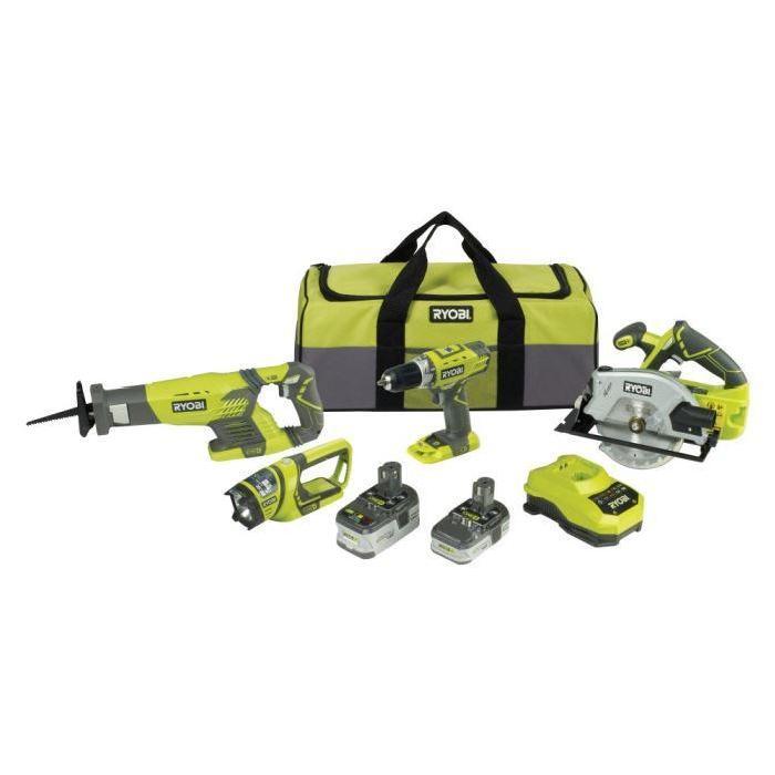 RYOBI Pack 4 outils 18V Lithium Achat / Vente perceuse visseuse