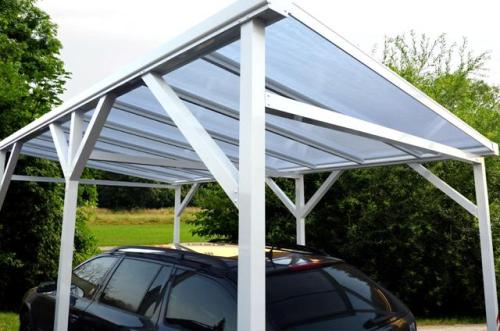 Alu Carports und Überdachungen im Internet kaufen Vordach Garage