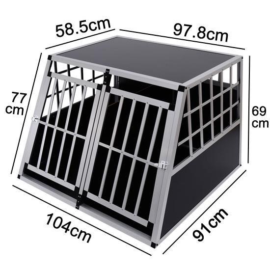 cage de transport pour chien en aluminium topiwall. Black Bedroom Furniture Sets. Home Design Ideas