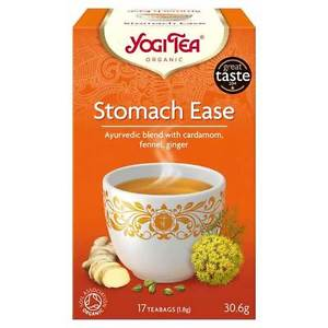 Yogi Tea Stomach Ease Organic 17 Tea Bags Cardoman Fennel Ginger