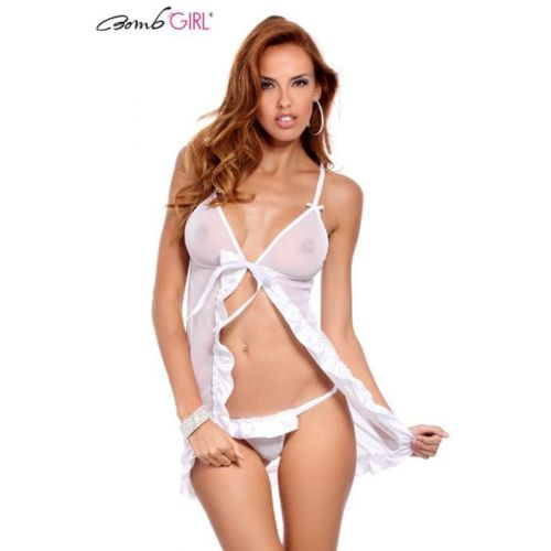 Bomb Girl Nuisette Audacieuse Blanc Lxl pas cher Achat / Vente