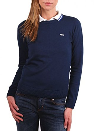 Lacoste Live femme pull over « TRICOT » navire/ dark bleu taille L