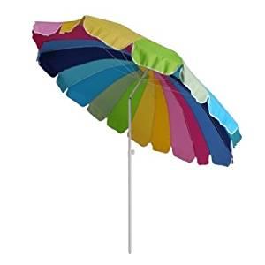 Parasol rond 2m40 Mat inclinable Coloris ARC en CIEL