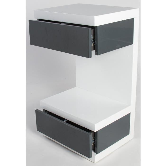 Gris haut Achat / Vente chevet Table de chevet BELA