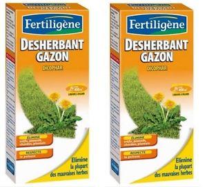 2 DESHERBANT SELECTIF GAZON PELOUSE FERTILIGENE ELIMINE